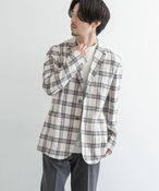 URBAN RESEARCH Tailor キャンバスチェックジャケット